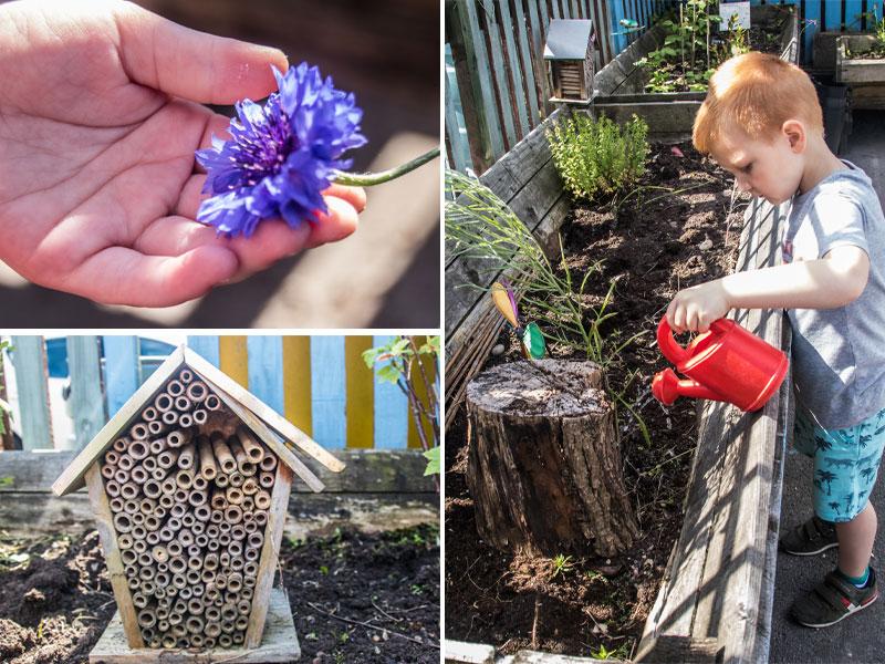 Gardening at Kirkburton Pre-School