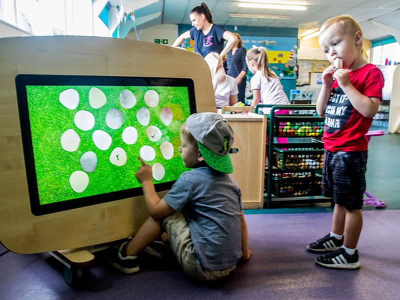 Indoor play at Kirkburton Pre-School